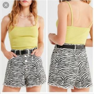 BDG Urban Outfitters high waisted zebra shorts 28